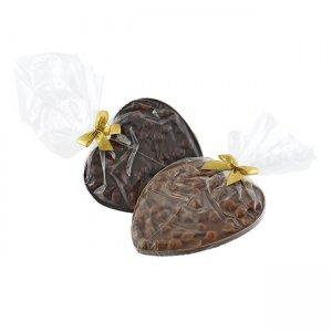 Schokoladenherz mit ganzen Haselnüssen